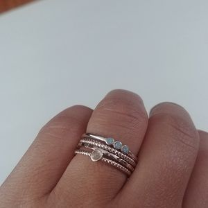 Gently Used LC Lauren Conrad stackable ring set